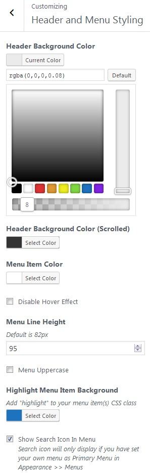 Exoplanet Header Color Picker