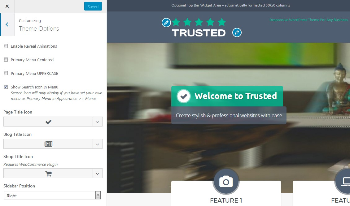 Trusted Theme Options