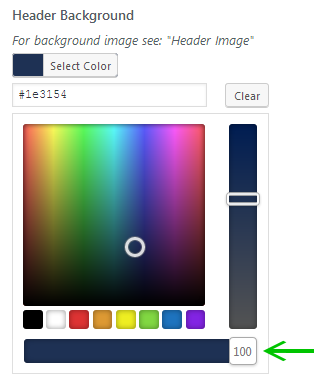 Color picker with transparency selector