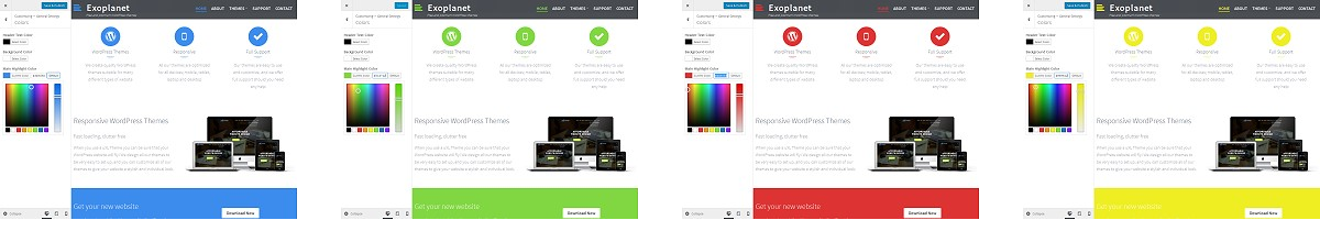 Switch colors easily with one click