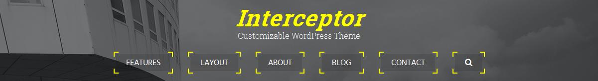 Centered header with targeted menu
