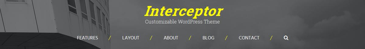 Centered menu/header