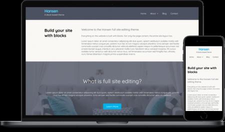 Hansen full site editing WordPress theme